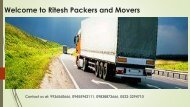 Ritesh Packers and Movers Lucknow 9936560666