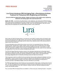 Lira Clinical Introduces PRO Anti-Aging Pads, a Revolutionary At-Home Treatment for Professional Skin Brightening and Exfoliating