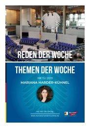 Bericht aus Berlin -  Reden der Woche - Themen der Woche