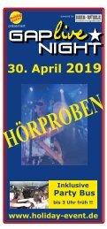 Gap Live Night 2019 Hörproben