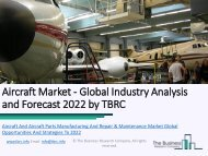 Aircraft Parts, Manufacturing, Repair & Maintenance Market O&S 2022