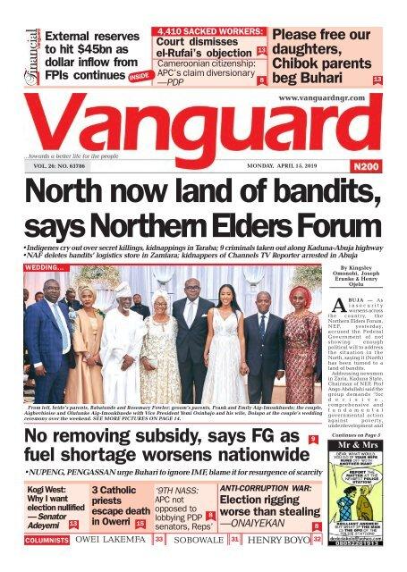 15042019 - North now land of bandits, says Northern Elders Forum