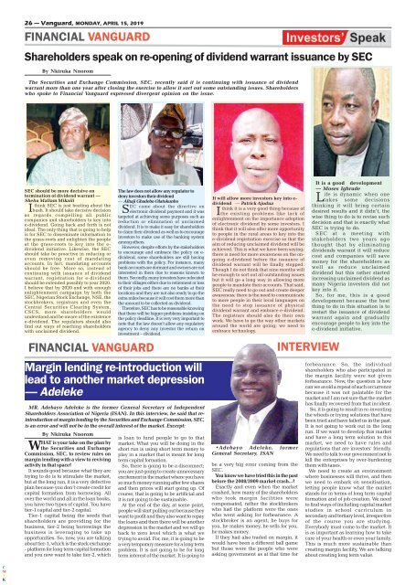 15042019 - North now land of bandits, says Northern Elders Forum