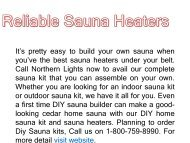 Reliable Sauna Heaters