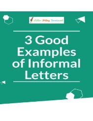 3 Good Examples of Informal Letters