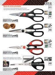 Catálogo de Tijeras para Cocina Profesionales Yato Gastro Carbone