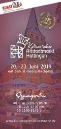 Kulinarischer Alstadtmarkt Hattingen 2019