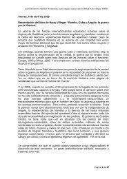 Cuba y Angola: la guerra por la libertad.