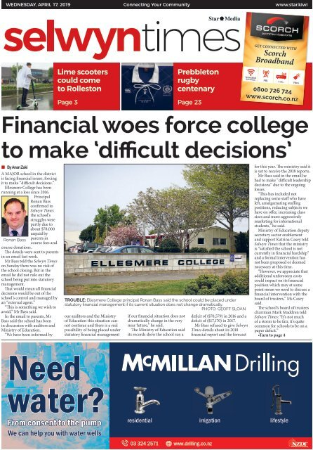 Selwyn Times: April 17, 2019