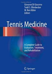 [+][PDF] TOP TREND Tennis Medicine: A Complete Guide to Evaluation, Treatment, and Rehabilitation  [NEWS]