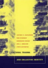 [+][PDF] TOP TREND Cultural Trauma and Collective Identity  [FULL]