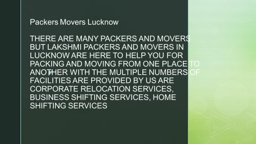 movers packers in lucknow