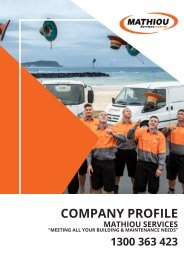 Mathiou Services Company Profile - Generic