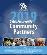 Saint Ambrose Parish Community Partners 2019