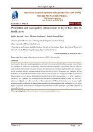 Production and seed quality enhancement of kayeli local rice by fertilization