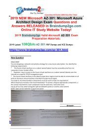 [2019-April-Version]New AZ-301 PDF and AZ-301 VCE 108Q Free Share(New Questions)