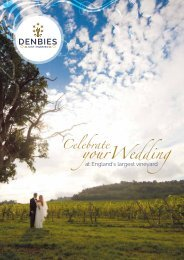 Denbies A4 Wedding Brochure 2018 v2