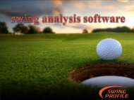 Best Software for Golf Swing Analysis