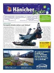 Hänicher Bote - Ausgabe 04 - Jahrgang 2019