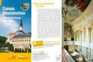 Informationsflyer Zamek Weesenstein & Ogród Barokowy Großsedlitz