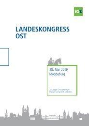 Tagungsmappe iGZ-Landeskongress Ost 2019
