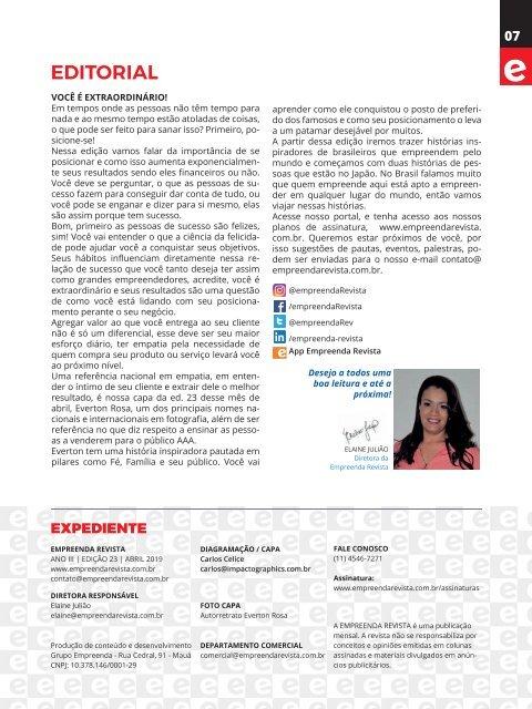 Empreenda Revista - Ed. 23 - Abril 2019
