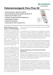 Patientenhandgerät Clino Phon 99 - Honeywell Life Safety Austria ...