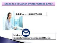 Canon Printer Offline Error in windows 10 | +1-888-877-0901