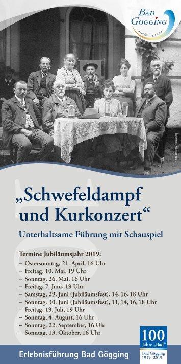 Erlebnisführung Schwefeldampf und Kurkonzert - Termine 2019