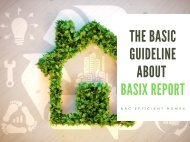 The Basic Guideline About Basix Report - PDF