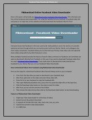fbdownload Online facebook video downloader