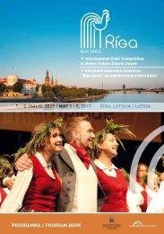 Riga Sings 2019 - Program Book
