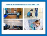 Cleaning services by Fully Carpet Clean