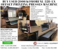 Buy Used 2006 Komori NL-528+LX Offset Printing Presses Machine