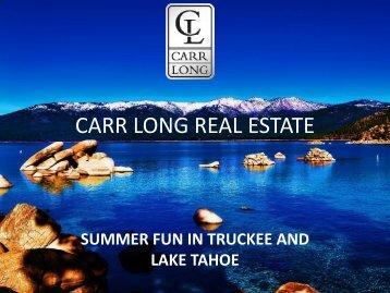 Summer Fun in Truckee and Lake Tahoe