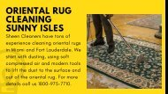 Oriental Rug Cleaning Sunny Isles