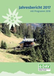 DAV Sektion Füssen - Jahresbericht 2017