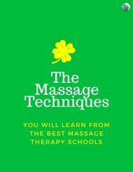 The Massage Techniques You Will learn from the Best Massage Therapy Schools in Virginia