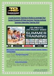 Best Summer Training Institute In Noida| 6 weeks Summer Training | Training Basket