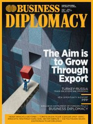 BUSINESS DIPLOMACY ISSUE 1 / APRİL - MAY 2019