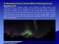 5 Interesting Facts to Know Before Planning Aurora Borealis Tour