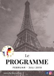 Le programme 2019