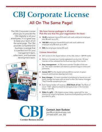 CBJ Corporate Licenses