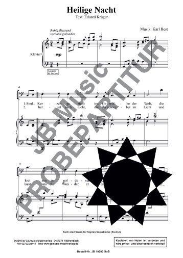 Heilige Nacht (für Bariton oder Sopran Solostimme und Klavier)