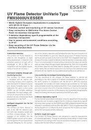 UV Flame Detector UniVario Type FMX5000UV.ESSER - ESSER by ...