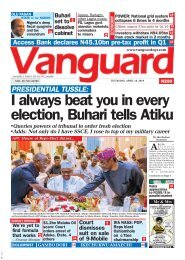18042019 - PRESIDENTIAL TUSSLE:I always beat you in every election, Buhari tells Atiku