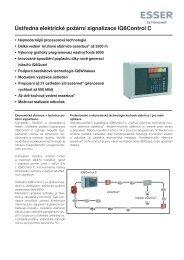 Ústředna elektrické požární signalizace IQ8Control C