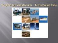 Weighbridge Manufacturers, Suppliers & Exporters in Delhi