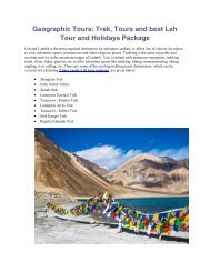 Book 7 days Leh Holiday Tour Package