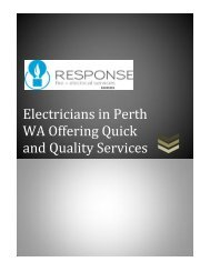 Electricians in Perth WA Offering Quick and Quality Services